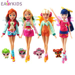 26cm Winx Club Doll Toys rainbow colorful girl Action Figures