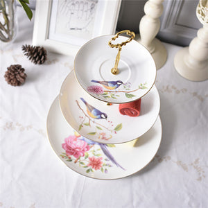 Europe Pastoral Bird Bone China Coffee Set Porcelain Tea Set