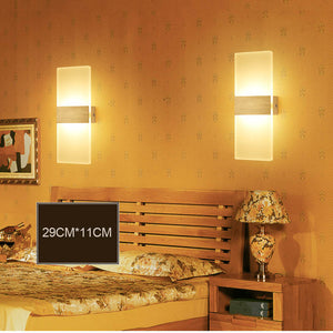 Pop 3w/6w LED Wall Sconces Aluminum Lights Fixture On/Off Decorative Lamps Night Light for Pathway Staircase Bedroom