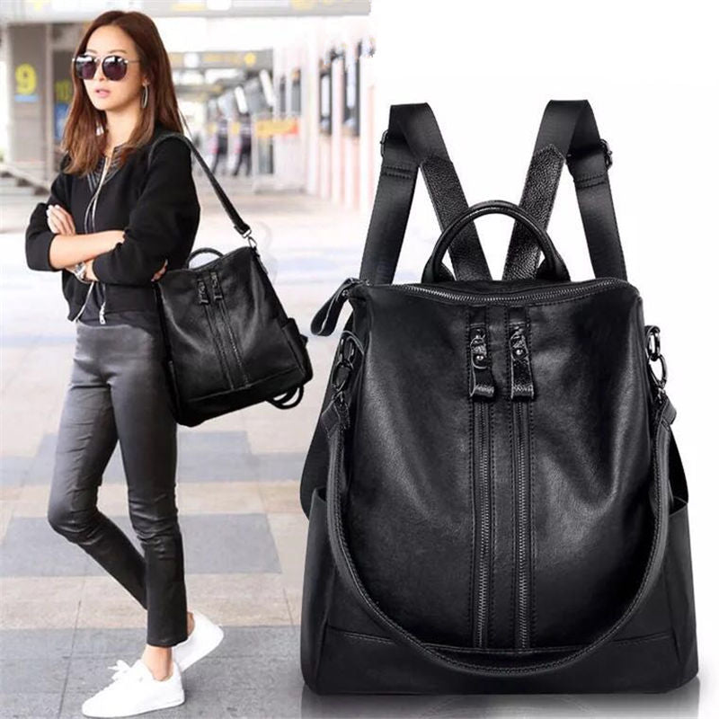 Fashion Women Backpack High Quality Youth Leather Backpacks for Teenage Girls Female School Shoulder Bag Bagpack mochila 2017
