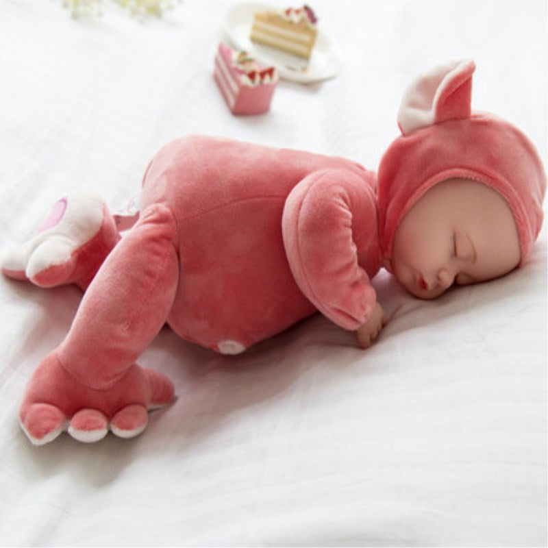 25CM Mini Stuffed Baby Born Doll Toys For Children Silicone Reborn Alive Babies Lifelike Kids