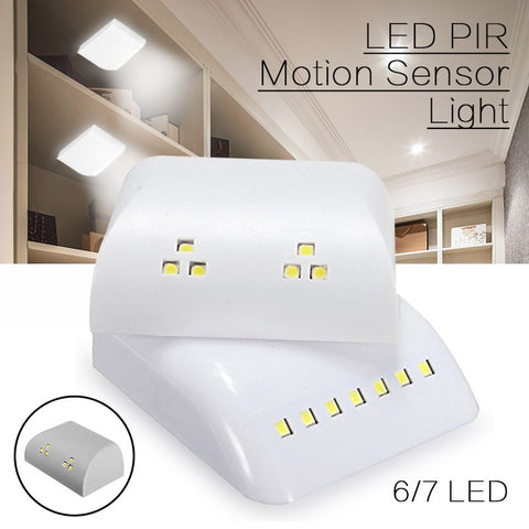 PIR Motion Sensor Night Lamp Battery Powered Intelligent LED Night Light With Motion Sensor