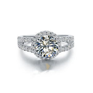 1CT Round Moissanite Diamond Ring For Women Clarity VVS1 Enhanced Quality White Gold