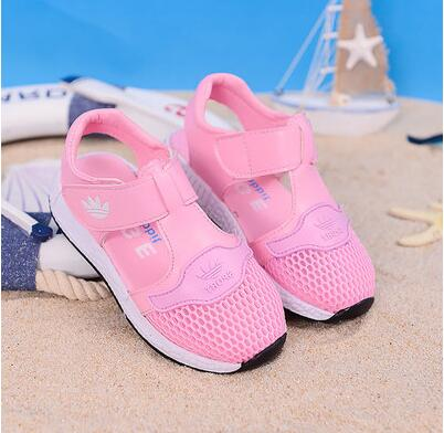 Hot fashion 2018 summer trend new girl sandals soft bottom lie fallow beach shoes boys  sandals
