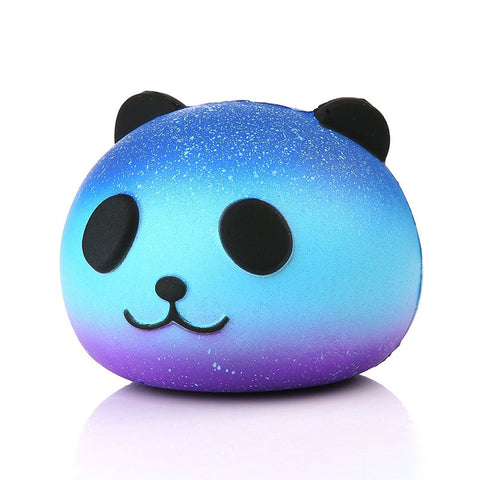 2018 Dropshipping Cute Blue Panda Cream Scented Squishy Slow Rising Squeeze Kid Toy Phone Charm Gift