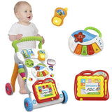 Baby Walker Baby First Steps Car Toddler Trolley Sit-to-Stand Walker for Kid's