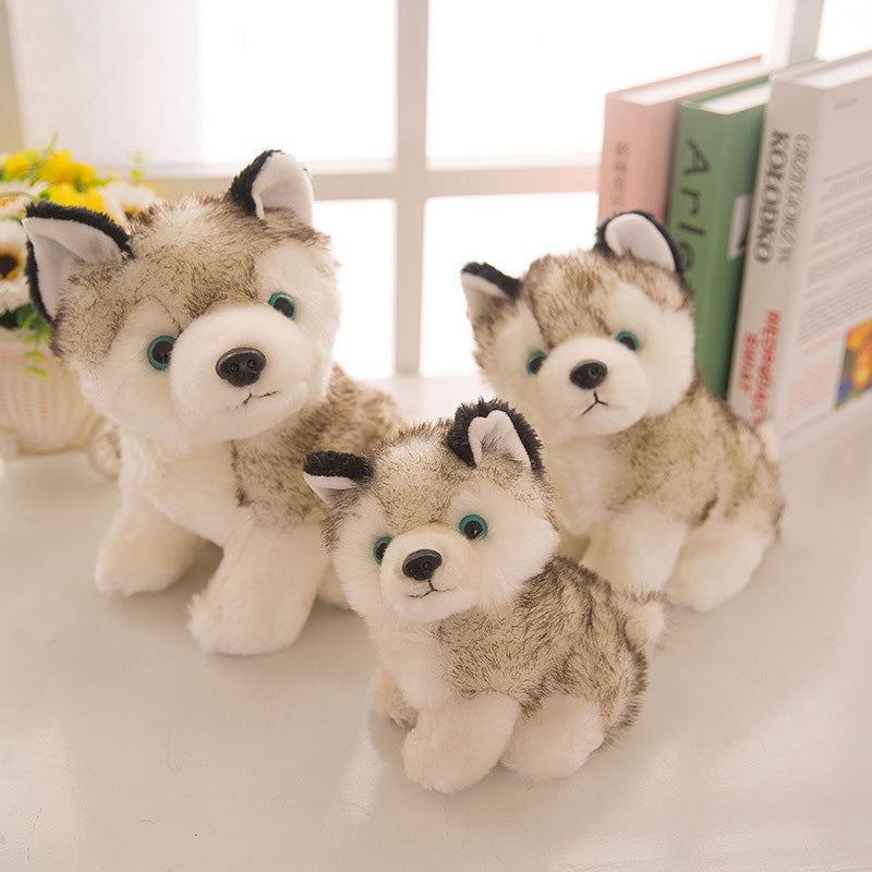 Cute Husky  Comfort Plush Toy , 18/22/28cm Dog Dolls For Baby Kids Toy , High Quality Cotton