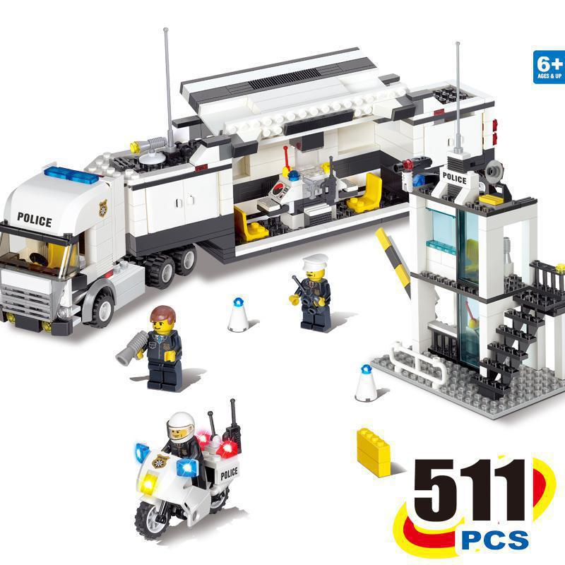BOHS City Police Station Coastal Guard SWAT Truck Motorcycle Building Blocks Toys (No retail box),Compatible with Lego