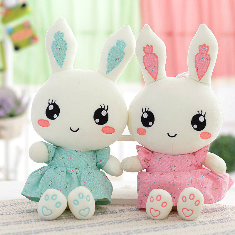 2018 New Cute Wearing dress Rabbit plush toys bunny Stuffed dolls kids toys