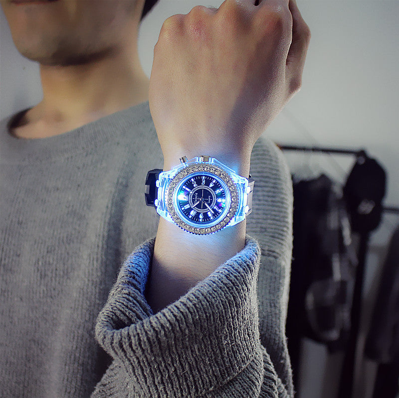 Silicone LED Luminous Fashion Ladies Outdoor Watch