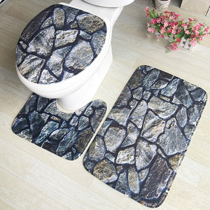 3pcs Bathroom Carpet Blue Shark Pedestal Rug Household Bathroom Non-slip Mat Lid Toilet Covers Bathroom Accessories Bath Mat Set