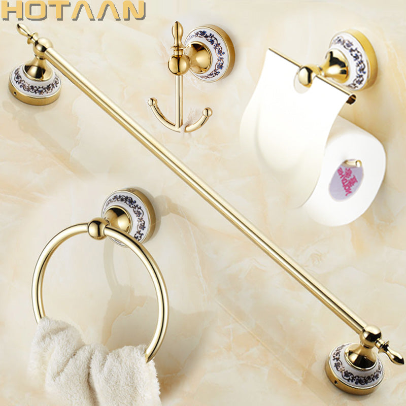Free shipping,Stainless Steel + ceramic Bathroom Accessories ,Paper Holder,Towel Bar,Towel ring,bathroom sets,YT-11800G-A