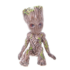 Baby Groot Flowerpot Flower Pot Planter Action Figures Guardians of The Galaxy Toy Tree Man