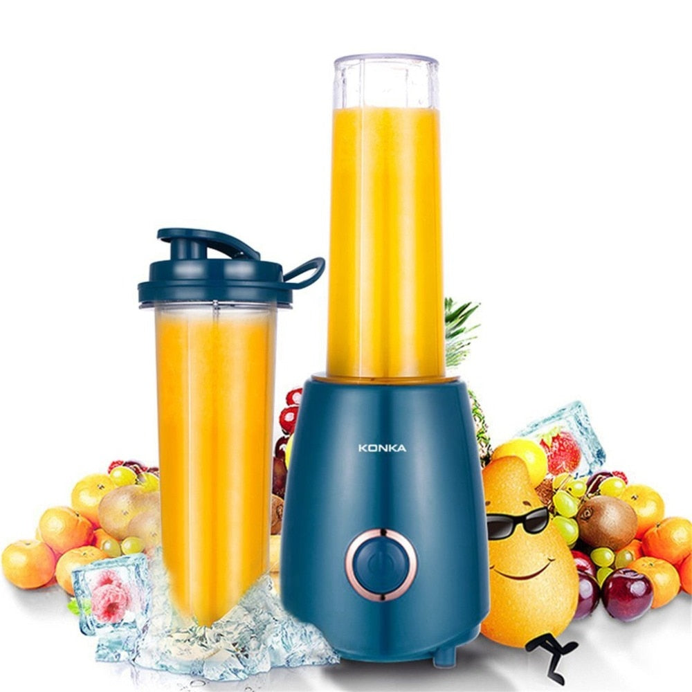 Portable Mini Electric Juicer Small-Scale Domestic Fruit Juice Processor Extractor Blender