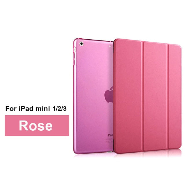 Luxury PU Leather Flip Stand Tablet Cover Custodia Lusso Coque for Apple IPad Mini 1 2 3 4 Cases for I Pad