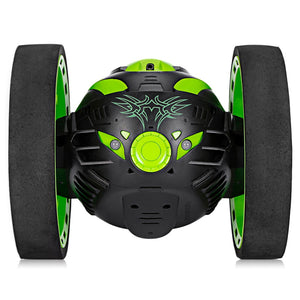 Bounce Car RC Car With Flexible Wheels Rotation LED Light Remote Control Robot Car