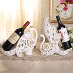 white peacock creative ceramic red wine holders home decor handicraft ornament crafts room wedding decoration porcelain figurine