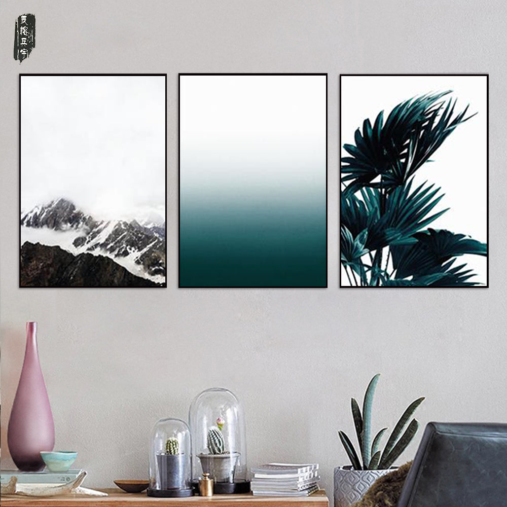Tree Wall Art Landscape Canvas Pictures Modern Canvas Art Sets Posters and Prints Nordic Mountain Painting Home Decor