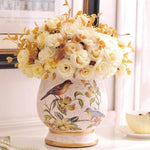 retro Home Furnishing decoration decoration living room table American ceramic vase is inserted a small dry simulation
