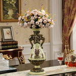 jewelry fashion retro resin vase Home Furnishing garden living room decoration wedding gifts housewarming desktop