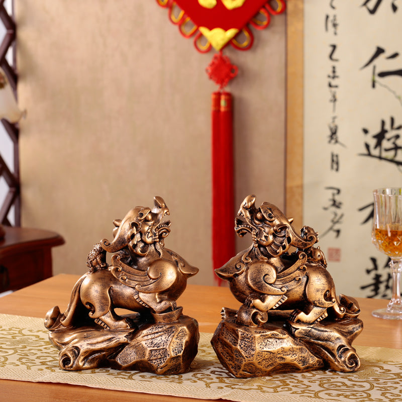 a large dance house decoration Feng Shui living room office desktop decoration Home Furnishing opened business gifts