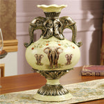 of the ancient vase flower decoration decoration room Home Furnishing American Pastoral flowers decoration accessories