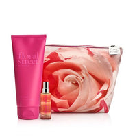 neon rose beauty bag set
