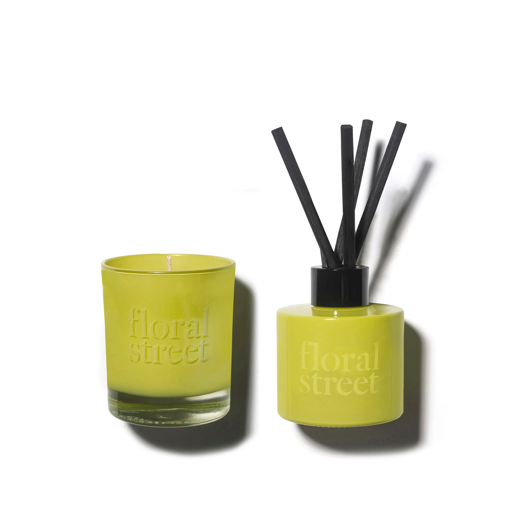 Floral Street Spring Bouquet Vegan Scented Candle and Diffuser Gift Set in Recyclable Packaging
