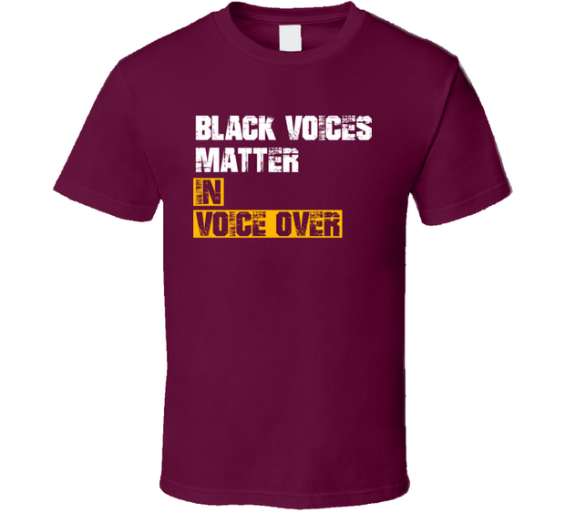 Black Voices Matter In Voice Over Burgundy