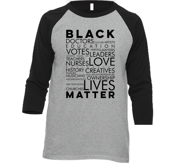 All Black Matters Raglan (G/B)
