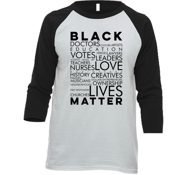 All Black Matters Raglan W/B
