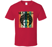 Black History Teacher Red TShirt
