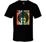 Black History Teacher Black TShirt