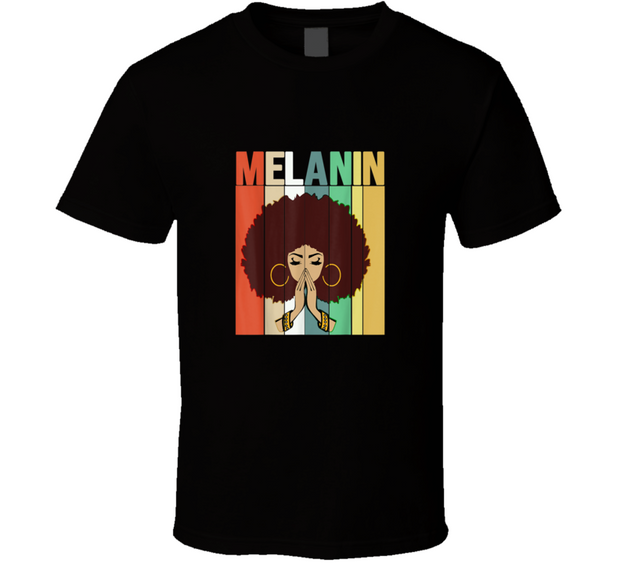 Black History Melanin Black T Shirt