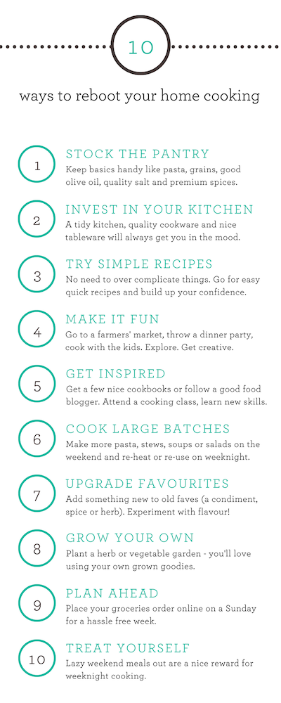 10 ways to reboot your home cooking