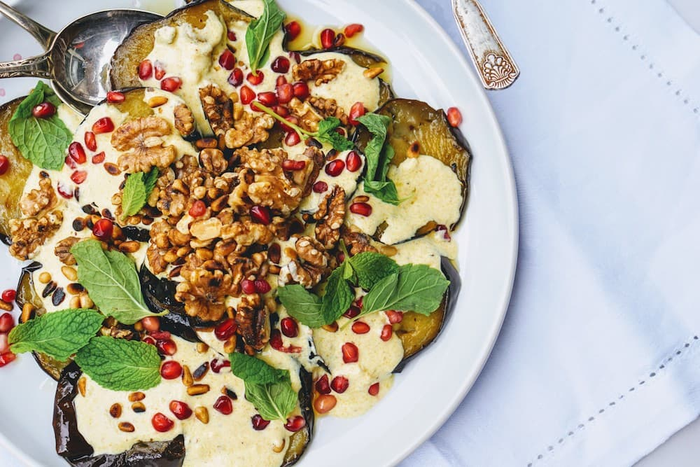 ottolenghi eggplant with spiced yoghurt