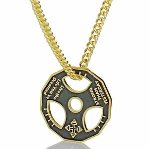 Motivational Weight Plate Necklace