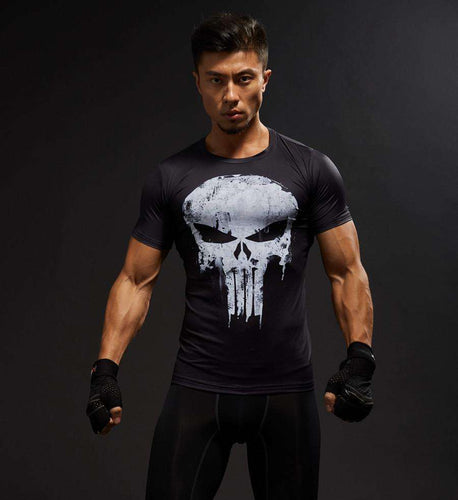 Men's Compression Shirt - The Punisher