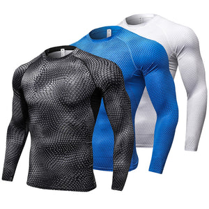 Men's Dry-Fit Long Sleeve Compression Shirt - Alpha Series