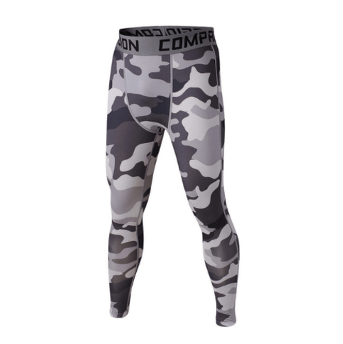 Men's Camouflage Compression Leggings for Bodybuilding & Fitness