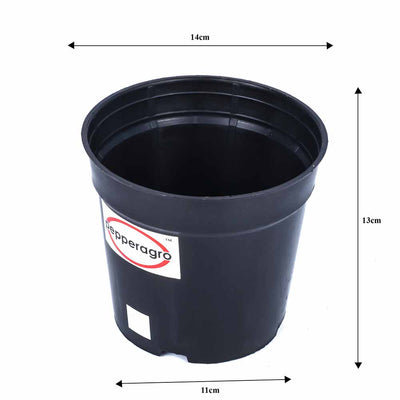 Pepper Agro Gardening Planter Flower Pot Black