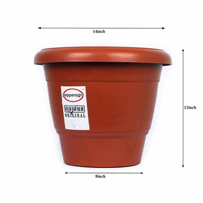 Pepper Agro Round Flower Pots Terracotta Planter