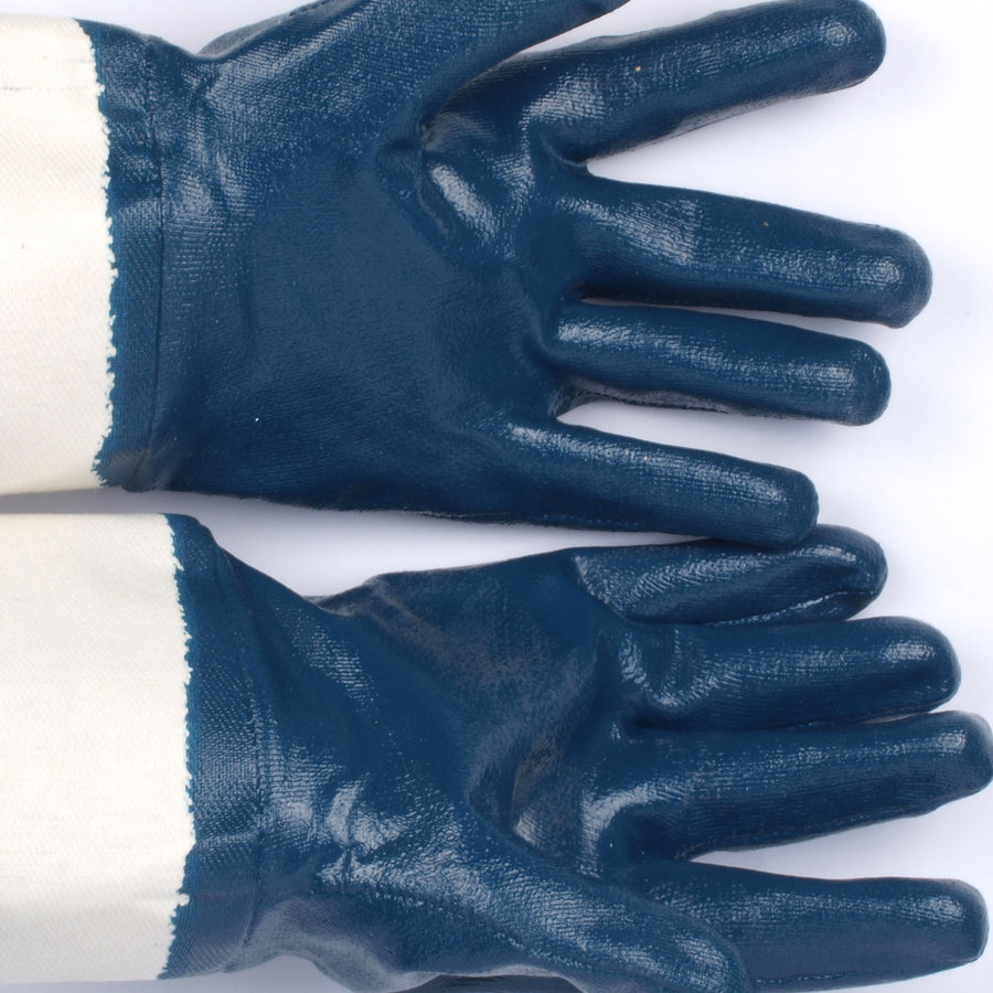 Pepper Agro Multipurpose Nitrile Gloves Heavy Duty Blue and white