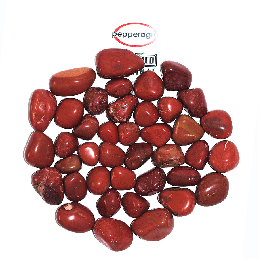 Pepper Agro Pebbles Stones for Decoration / Garden / Table / Aquarium 15 to 25 mm Jasper Red Pebble - Pepper Agro