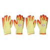 Pepper Agro Multipurpose Gloves Sweat Free Cotton Fabric Palm Side Coated with Latex Orange and Yellow Free Size