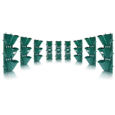Pepper Agro Hanging Planter Vertical Wall Garden Panel Set (1 Frame + 3 Pots)