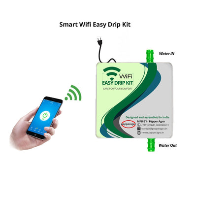 Pepper Agro Easy And Smart Wifi Drip Irrigation Kit For (50plants)