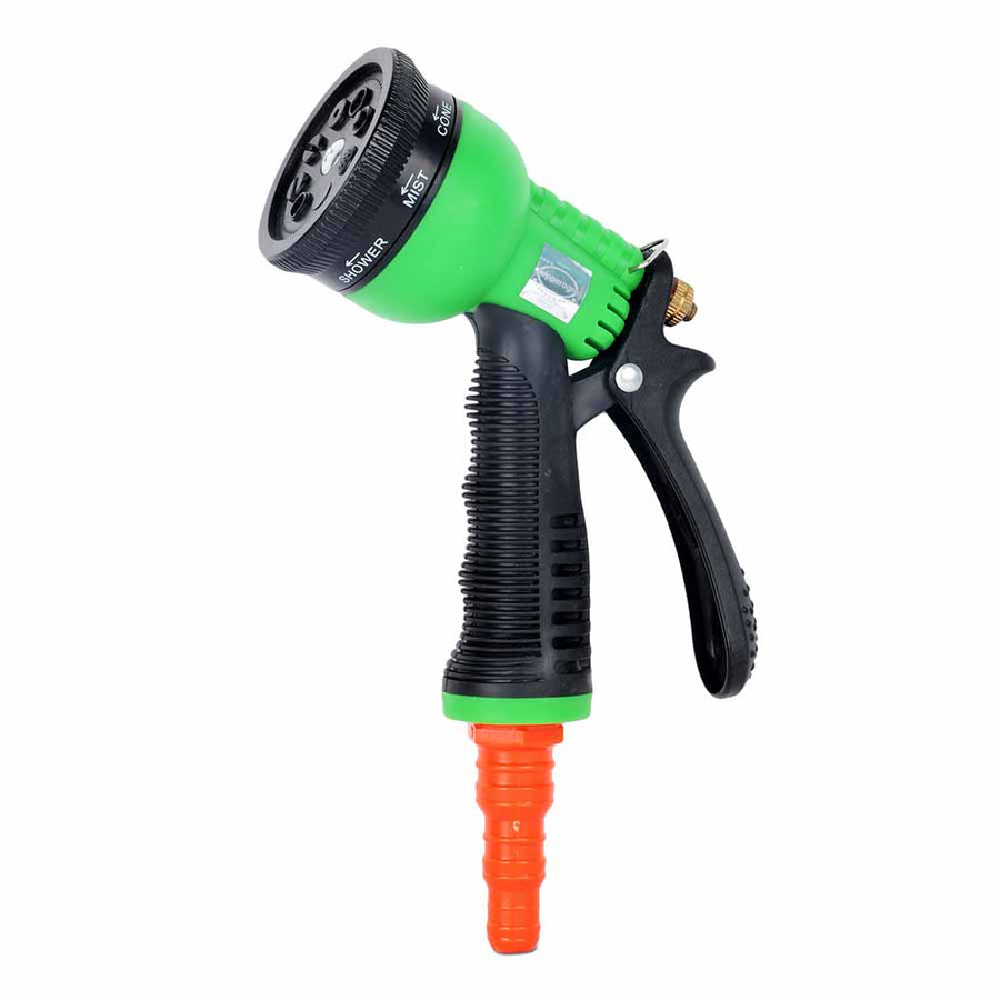 Pepper Agro Garden Watering Car Wash 8 Mode / Pattern Spray Gun With Braided Hose Pipe