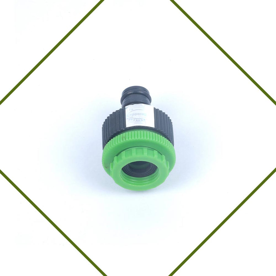 Pepper Agro Garden Watering tap hose pipe multi adaptor with 1/2,3/4,1 inch female thread with quick connector nozzle