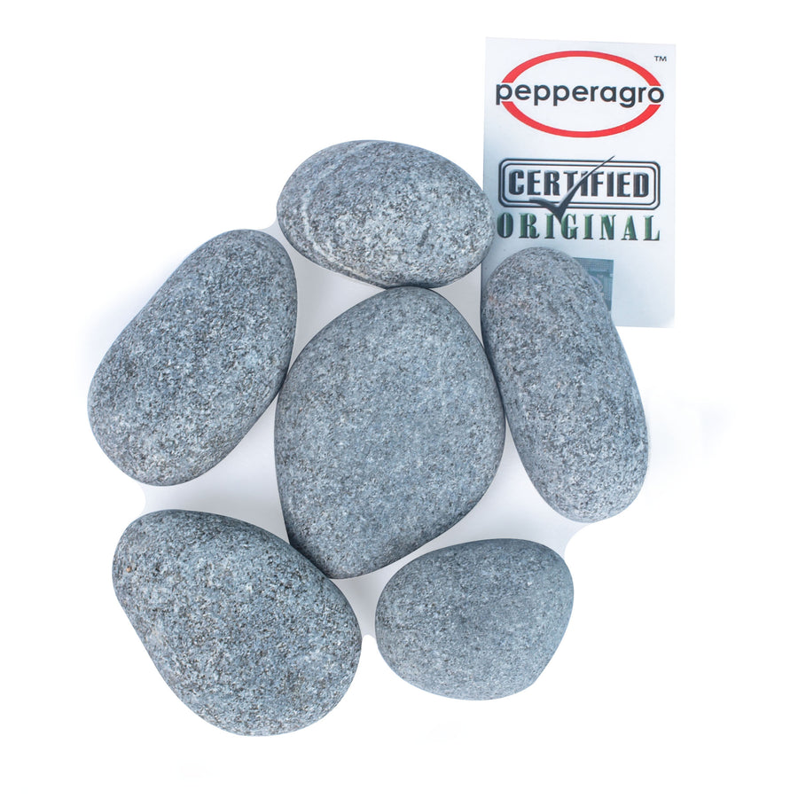 Pepper Agro Pebbles Stones for Decoration / Garden / Table / Aquarium 30 to 40 mm Tumbled Pebble - Pepper Agro